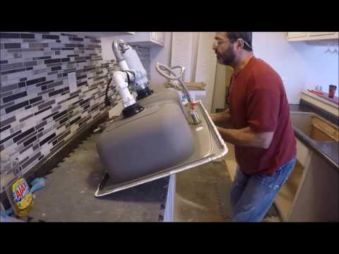 How to Install a Stainless Steel Drop In Sink