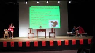 présenté au concours International de chinois 2015, écrit:Yao Pinglan, présenté:Michel, Francesca