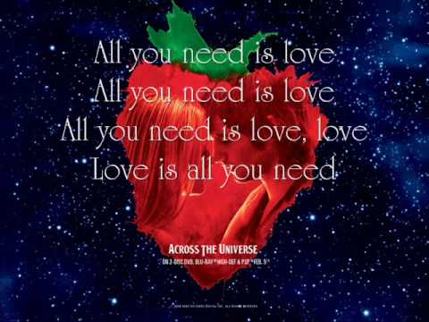 All You Need Is Love (Song) by Jim Sturgess and Dana Fuchs