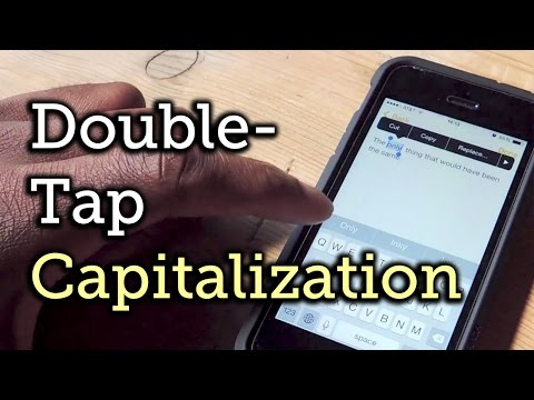 Easily Capitalise Words In iOS With A Double-Tap And QuickType