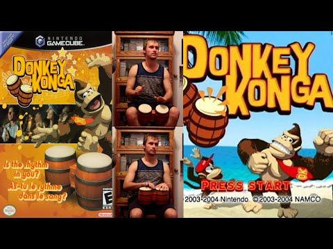 """GAMECUBE """" DONKEY KONGA """" COMPLET + POINTS NINTENDO VIP, COMME NEUF !!"""