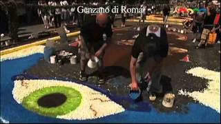 preview picture of video 'Infiorata di Genzano di Roma 2013'