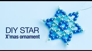How To Make  Christmas Star Ornament 2019 | DIY Star Ornaments | Christmas Decoration | Beads Art