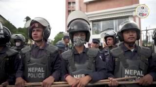 भारतीय दूतावास अगाडि नेवि संघको प्रदर्शन (फोटो/भिडियो)