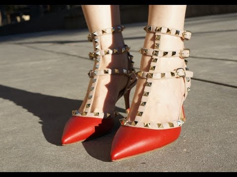 Valentino Rockstud Slingback Heels Review (How to get discount price)