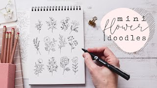 Mini Floral Doodles | Learn To Draw Simple Flowers