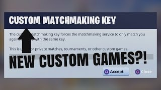 what does custom matchmaking key mean in fortnite speed dating london over 30