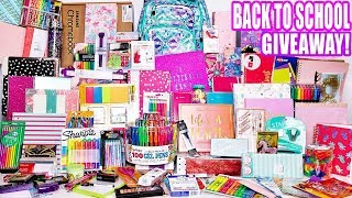 Biggest Back To School Giveaway EVER! School supplies, Chromebook, Makeup & more! 2 winners