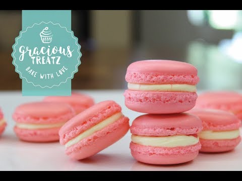 Strawberry French Macarons | First Time Challenge, How to do Video