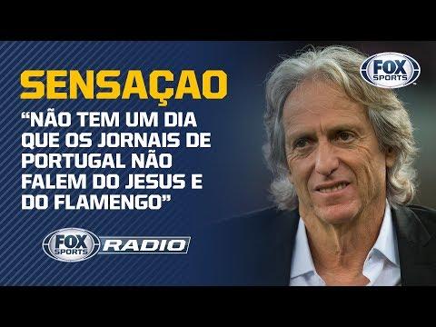 'NÃO TEM UM DIA QUE OS JORNAIS DE PORTUGAL NÃO FALEM DO JESUS E DO FLAMENGO', diz Bruno Andrade