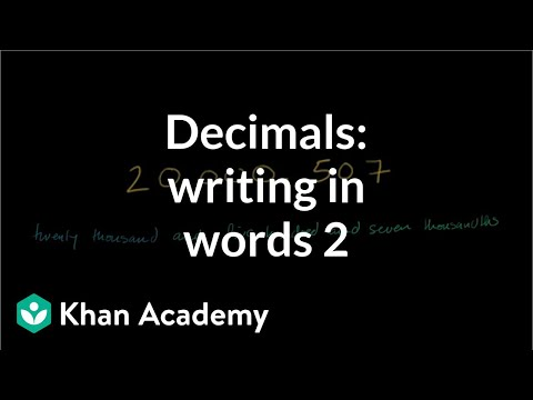 Decimals In Written Form Thousandths Video Khan Academy