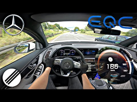 Mercedes-Benz EQC 400 4MATIC TOP SPEED DRIVE ON GERMAN