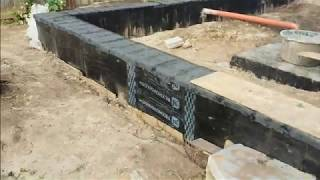 Фундамент гараж и пристрой №2