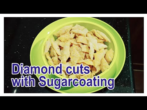 #COOKING #BAKERY #RECIPES #KITCHEN DIAMOND CUTS WITH SUGARCOATING   COOKING RECIPE   SANTHAS VIDEOS