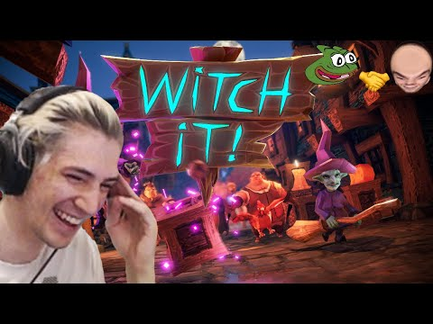 xQc Plays Witch It with Moxy and Friends (with chat)