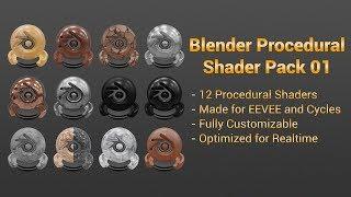 Blender Procedural Shader Pack 01