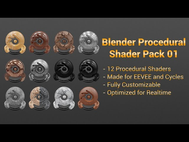 Blender Procedural Shader Pack 01