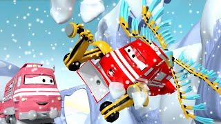 Vláčky pro děti Létající vlak Troy zachrání Táňu - Vláček Troy ve Městě Aut