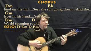 The Fool On The Hill (The Beatles) Guitar Cover Lesson with Chords/Lyrics - Munson