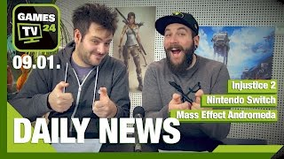 Injustice 2, Nintendo Switch, Mass Effect Andromeda | Games TV 24 Daily - 09.01.2017