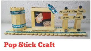 How To Make Pen Stand And Photo Frame With Icecream Sticks Free