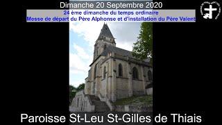 2020-09-20 – Messe de départ du Père Alphonse et d'installation du Père Valent