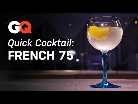 Video How to Make a French 75 – Quick Cocktail – America's Bartender – GQ Magazine