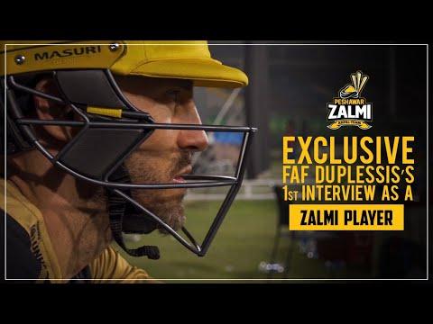 Faf Du Plessis's 1st Interview as a Zalmi Player | PSL 5 PlayOffs
