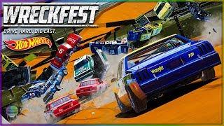 HUGE HOT WHEELS WRECKS!   Wreckfest   NASCAR Legends Mod
