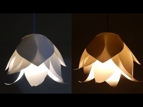 DIY Flower Lamp - Learn How To Make A Paper Flower Lampshade For A Pendant Light - EzyCraft Mp3