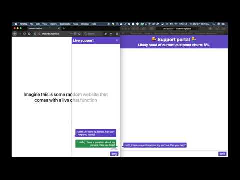 Video showing demo of churn