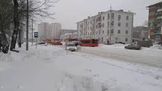 Казань после сильного снегопада 5.02.2018