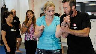 Alex OLoughlin And Egan Inoue Teach Self Defense