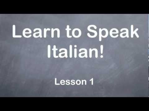Learn to Speak Italian - Learn Italian Online Free - YouTube
