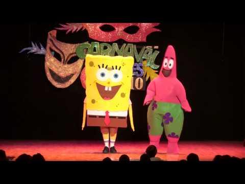 Ardales, carnaval 2010, disfraz Bob esponja y Patricio. HD