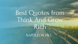 Best Quote from Think and Grow Rich I Napoleon Hill #inspiration