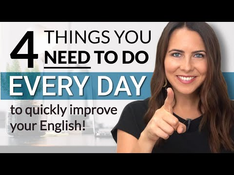 Everyday habits to improve your English