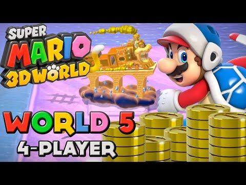 Super Mario 3D World Walkthrough - World 3 (4-Player) by