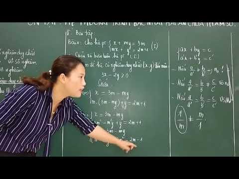 Chuyên đề_Ôn tập hệ phương trình bậc nhất hai ẩn chứa tham số (P1)