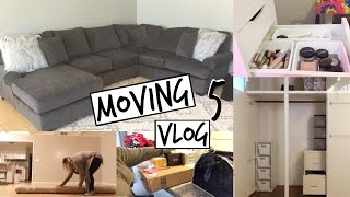 Moving Vlog 5! | Shutters, My New Rug, I Got A Couch!