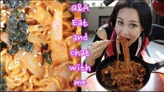 Mukbang Recipe Fried Kimchi Noodles | Kimchibokkeummyeon