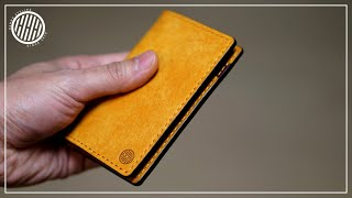 [Leather Craft] Making A Simple Vertical Card Wallet / Free PDF Pattern