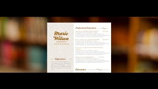 "Original CV ""Friendly"" by Mycvfactory"