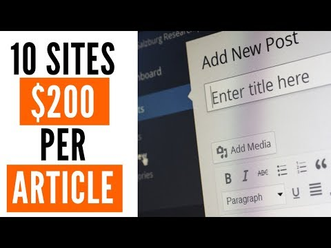 How to Get Paid to Write Articles Online at $200 Each