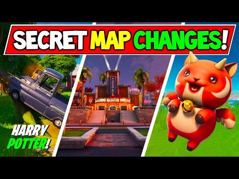 "*NEW* Fortnite SECRET MAP CHANGES & Hidden Easter Eggs ""Harry Potter"" (v11.12 Week 5 Update)"