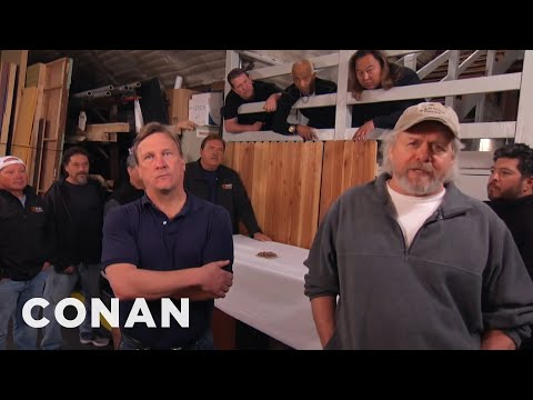 The CONAN Crew Demand A Better Nut Spoon  - CONAN on TBS (видео)
