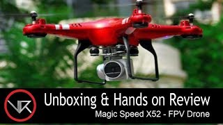 The VR Shop - Unboxing & Hands on Review - Magic Speed X52 (FPV Drone)