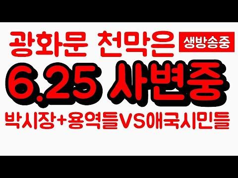 6/25 광화문 애국천막당사/천막 강제 철거 후 자리 지키는 애국 동지님들
