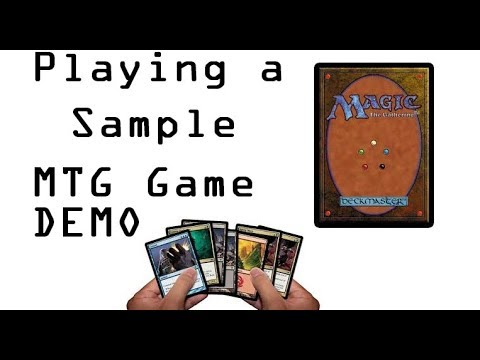 Playing a Sample Magic: The Gathering Game