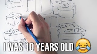 Learn to Draw 3D Shapes Immediately | Sketching Technique I Invented When I was 10